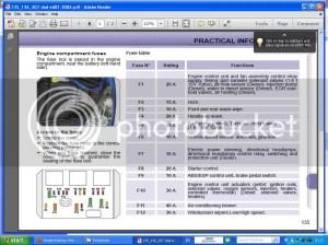 [WRG3209] Peugeot 306 R Reg Fuse Box