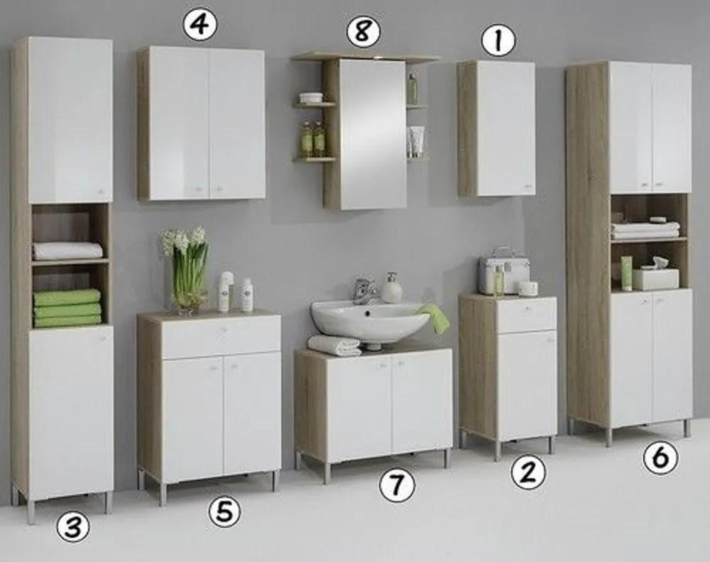 Luxury Bilbao Matching White & Washed Oak Bathroom Vanity