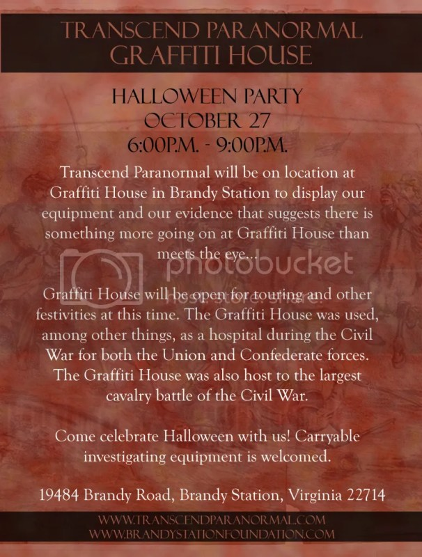 Transcend Paranormal: Halloween Party at Graffiti House 2012