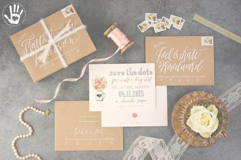 Kirsten Ashley Photography & Design | Bespoke Wedding Invitations | Custom Calligraphy