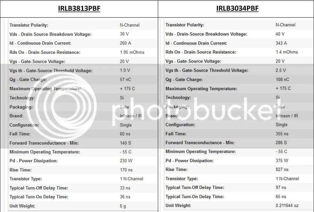 IRLB3034 vs IRLB3813 MOSFET photo IRLB3034 vs  IRLB3813_zpsghkl7g74.jpg