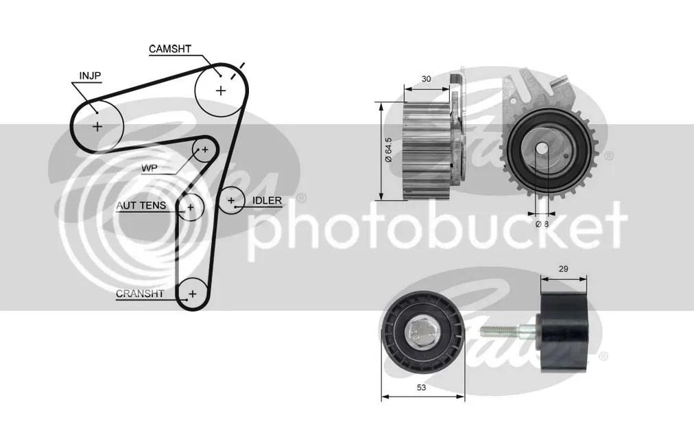 Genuine Gates Timing Belt Kit VAUXHALL Astra 1.9 CDTI 16V