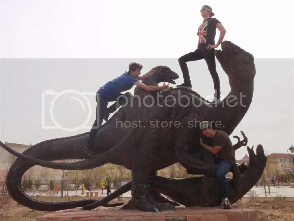 Dino statues group
