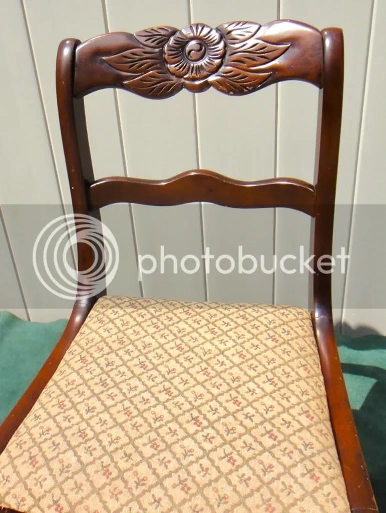 TELL CITY Antique Furniture Roseback Rocking Chair Orig  eBay