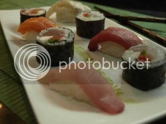 maki sushi y nigiri de lubina