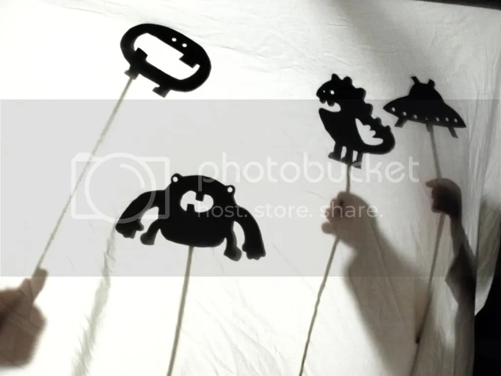 Monsters and Aliens Shadow Puppets | See|Cate|Create