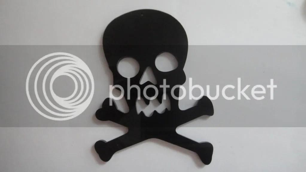 black skull bead