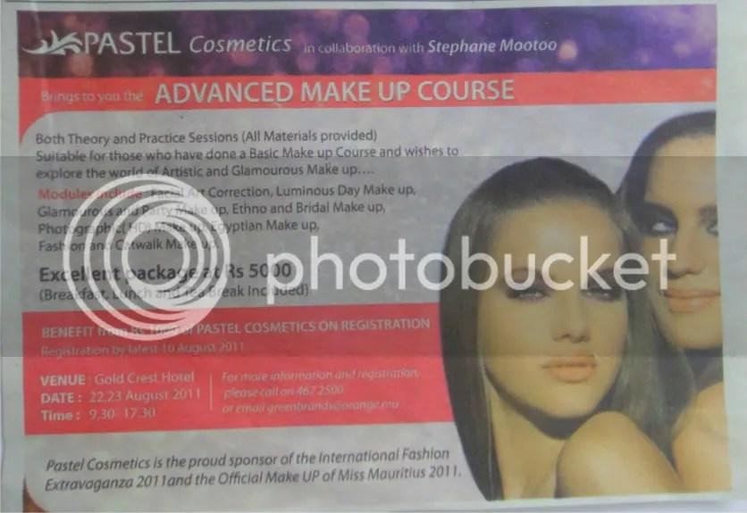 pastel cosmetics makeup courses in mauritius