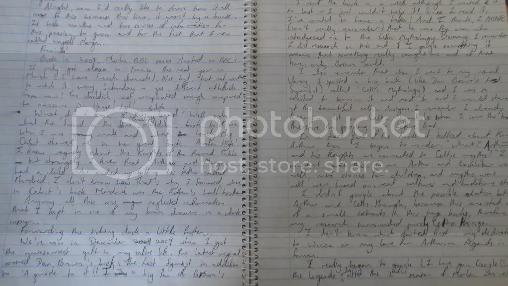 copybook with handwriting