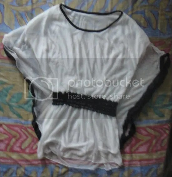 angelic black and white top for girls and women