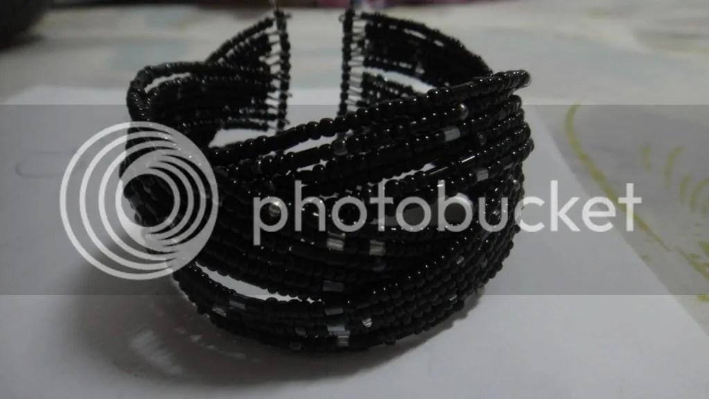 black beaded celtic knot bracelet