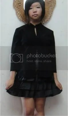 black and chic teen dress