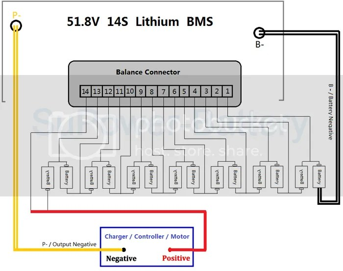 charging system wiring diagram definition block of 8086 microprocessor 50.4v 51.8v 60v 14s 80a lithium ion li-ion lipo polymer battery bms pcb