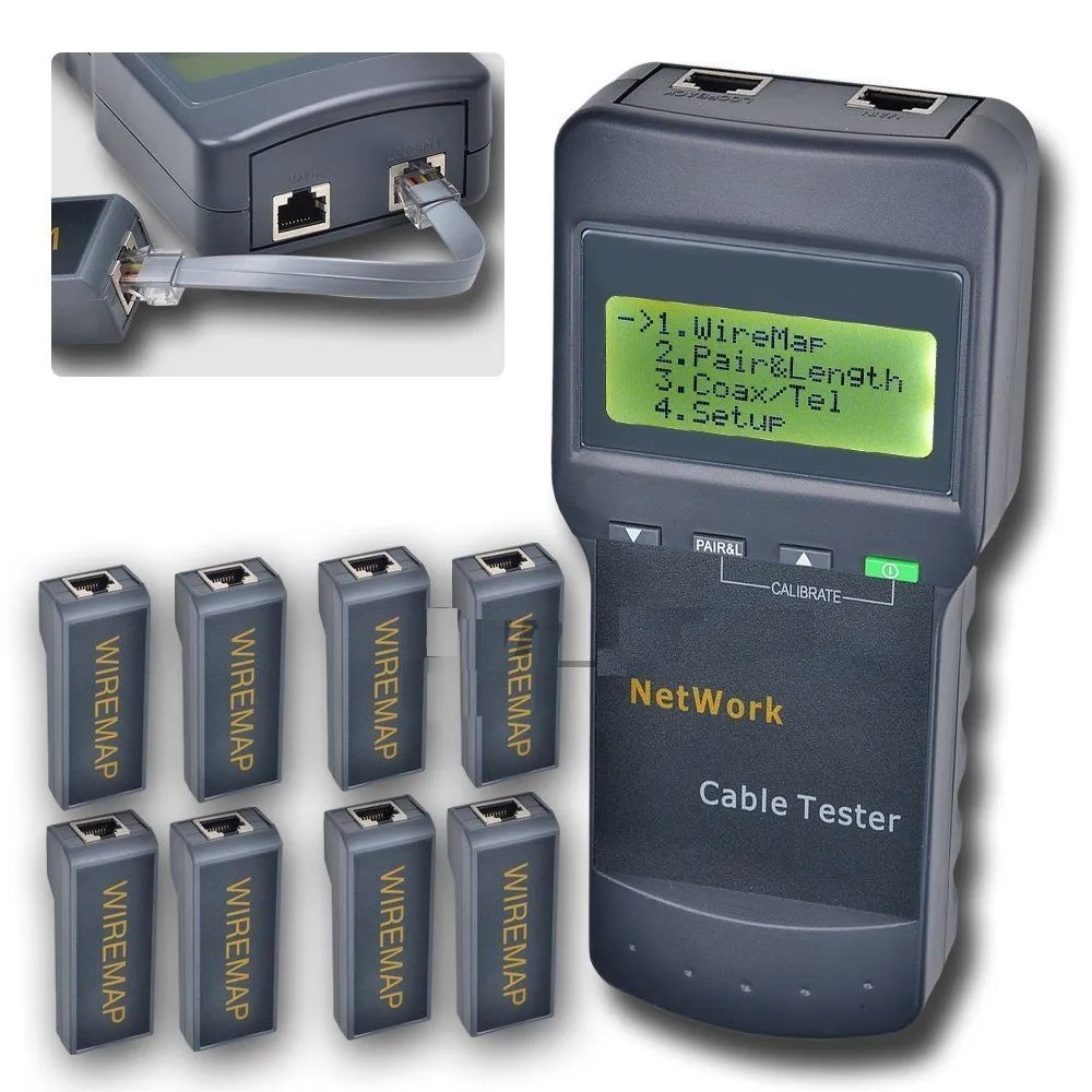 Rj45 Cable Tester Circuit This Is A Multifunction Rj45 Network Cable