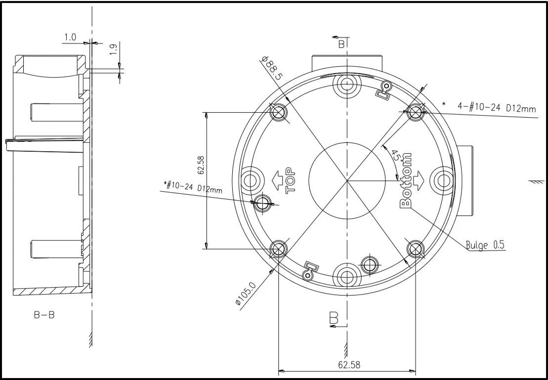 HIKVISION DS-1260ZJ DS-2CD2T42WD-i5/i8 4mm 4MP Bullet POE