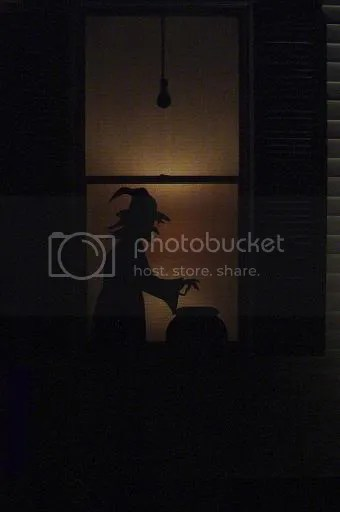 martini drinking witch silhouettes