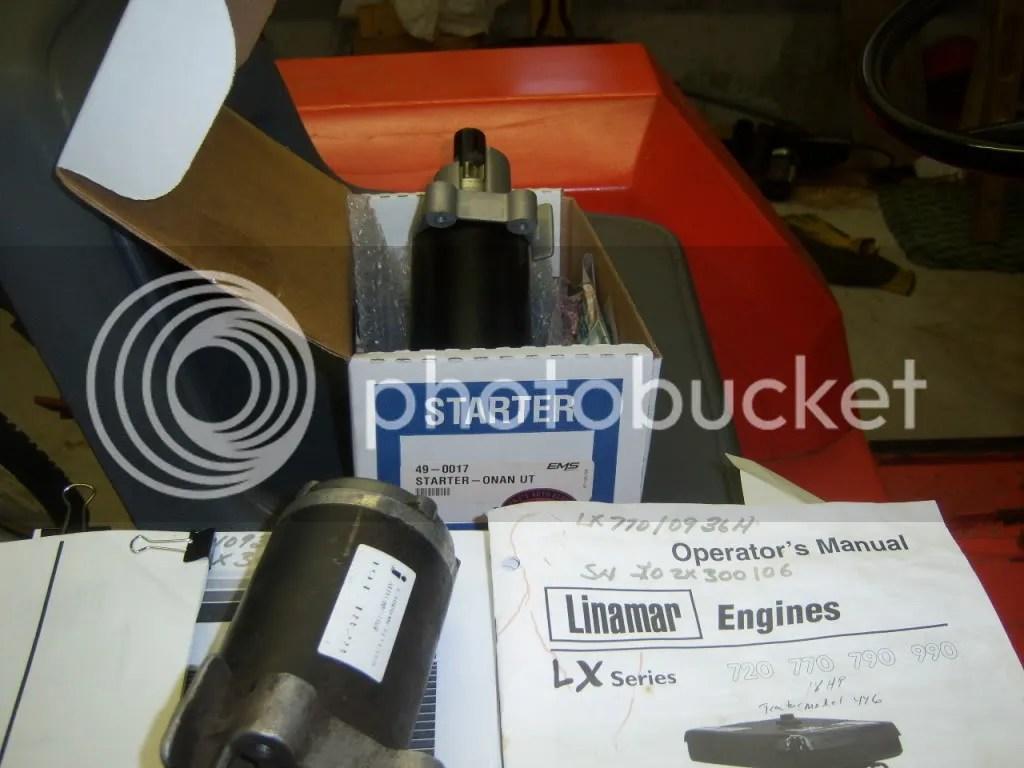 hight resolution of  changing starter on linamar lx770 onan p218g page 2 on onan b43g wiring diagram