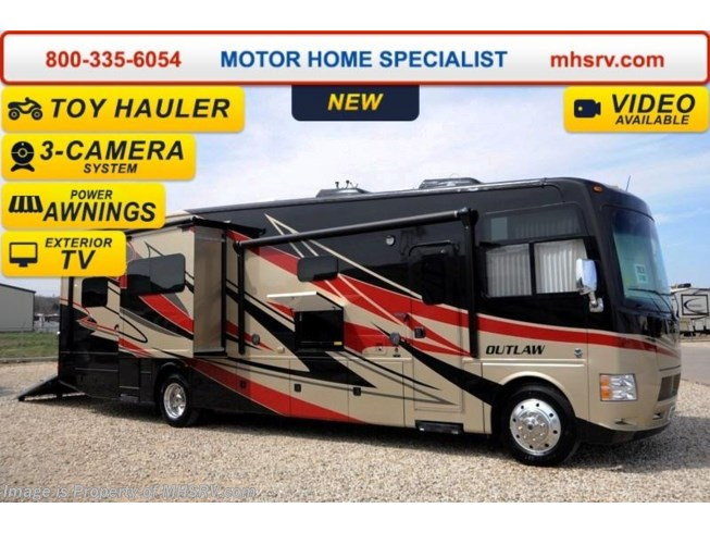 2014 Thor Motor Coach RV Outlaw 37MD Garage, 26K Chassis