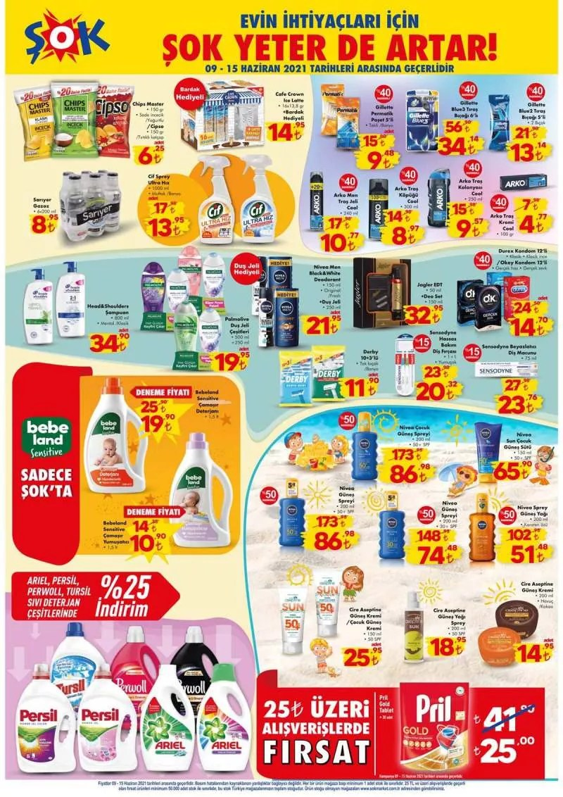 ŞOK market 9 Haziran aktüel ürünleri belli oldu! 9 Haziran 2021 Çarşamba ŞOK market