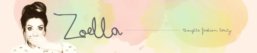 Zoella's banner