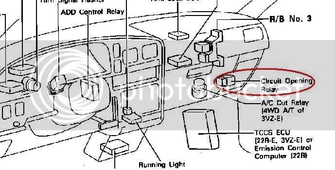 Toyota 22r fuel pump location