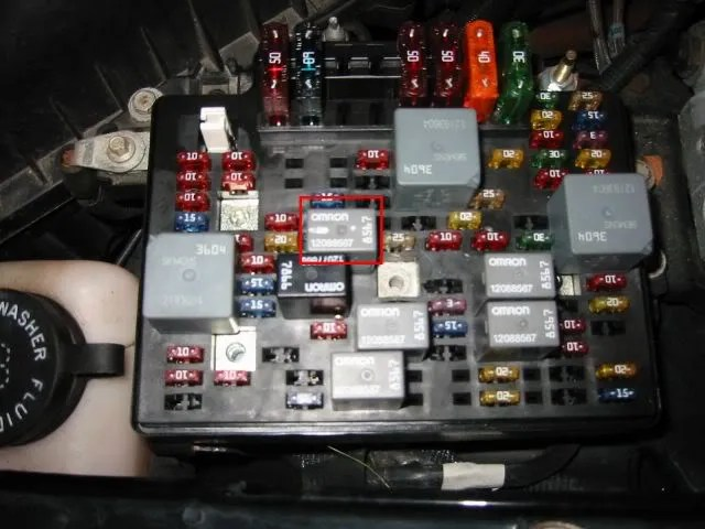2000 Chevy Truck V8 Fuse Box Diagram