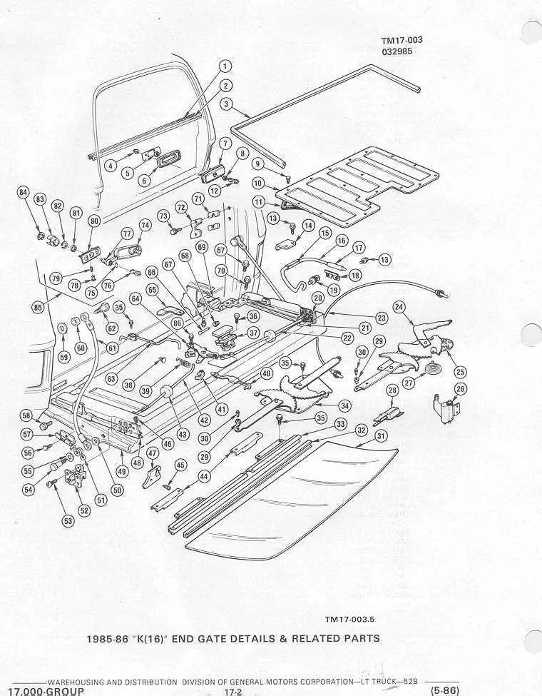 2005 chevrolet tailgate diagram