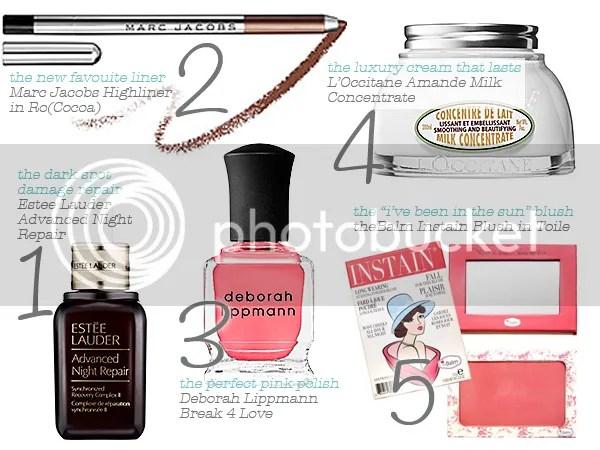 June 2014 Beauty Favourites, Estee lauder, theBalm, Deborah Lippmann, marc Jacobs