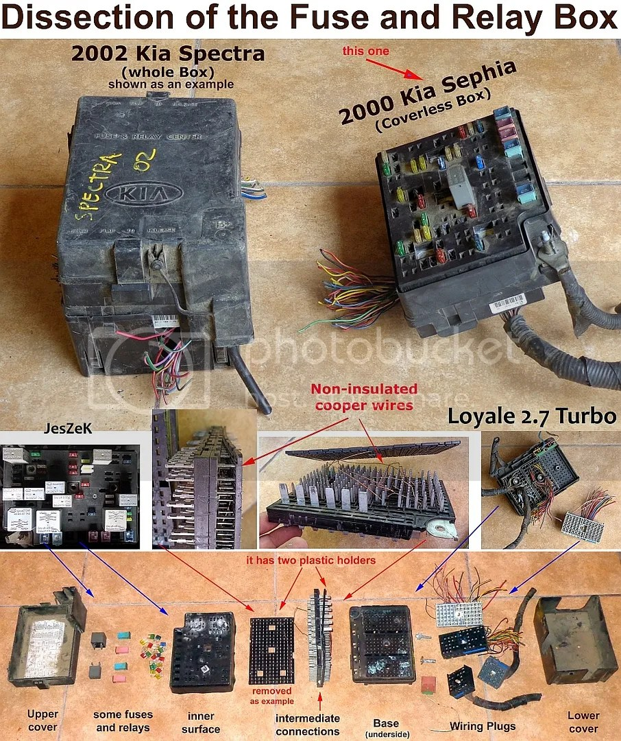 01 Spectra Fuse Box - on