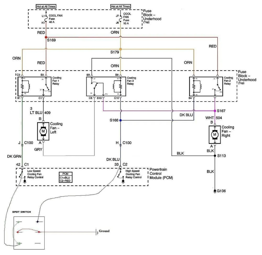 medium resolution of cooling fans and a c compressor wiring ls1tech wiring diagram for you ls1 dual fan relay wiring