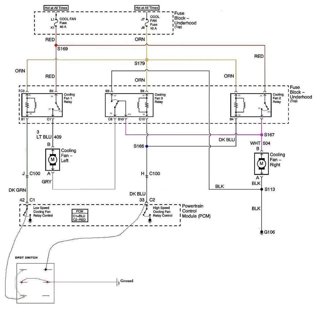 hight resolution of cooling fans and a c compressor wiring ls1tech wiring diagram for you ls1 dual fan relay wiring