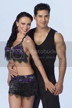Mario Lopez and Karina Smirnoff from Dancing with the Stars