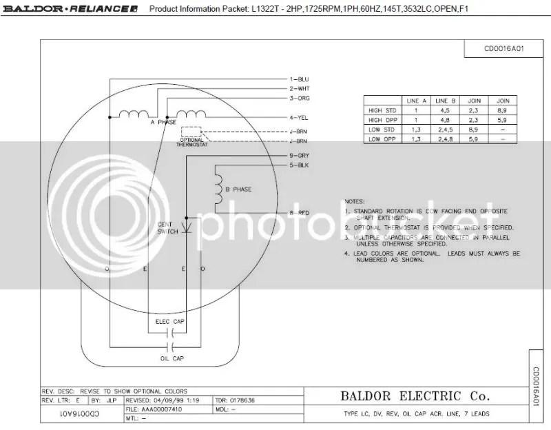 Baldor motors wiring diagram for Baldor motors wiring diagram