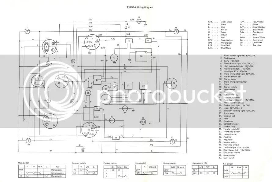 yamaha 1975 xs650 wiring diagram