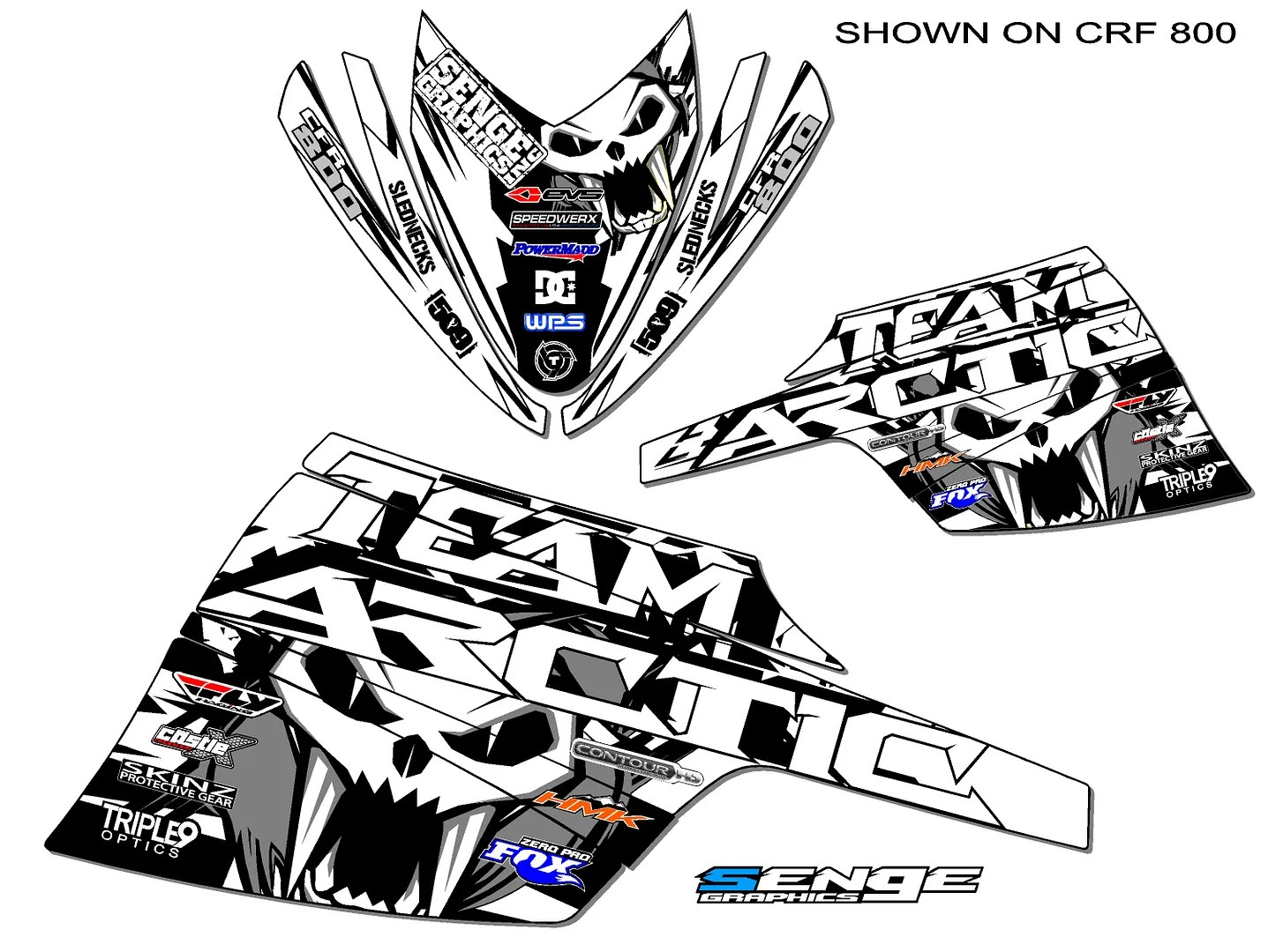 2012 2013 2014 ARCTIC CAT SNOPRO SNO PRO 600 GRAPHICS KIT