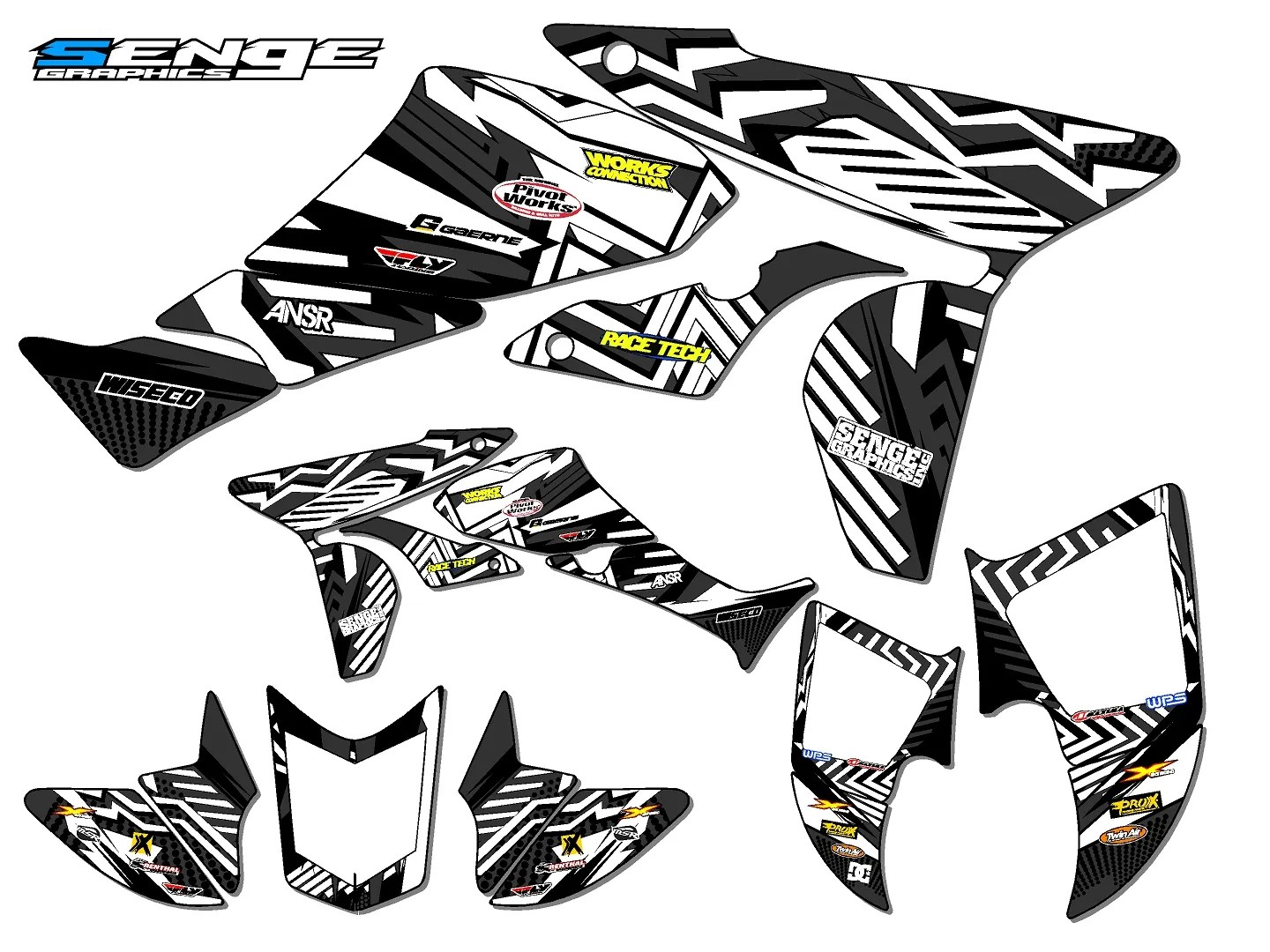 2006-2017 TRX450R TRX 450R 450 R GRAPHICS DECALS 2016 2015