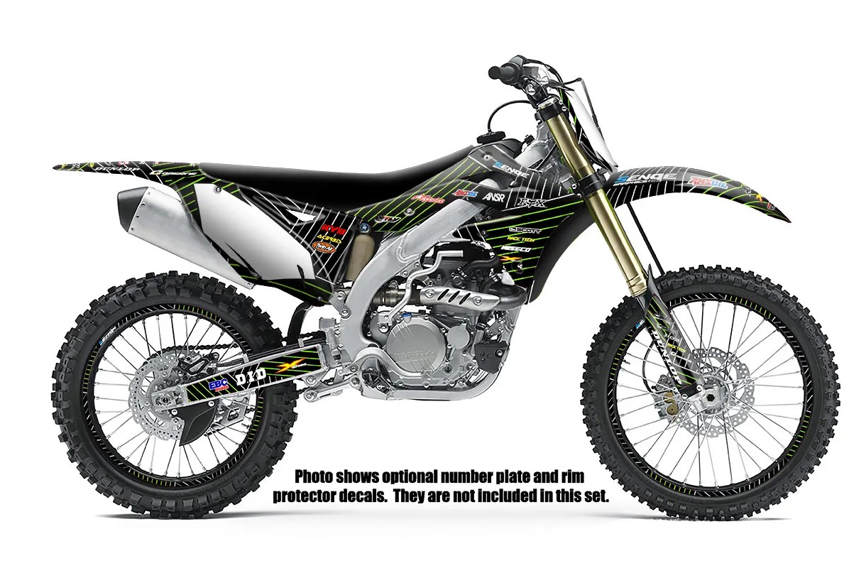 1990 1991 KX 125 250 GRAPHICS KIT KAWASAKI KX125 KX250