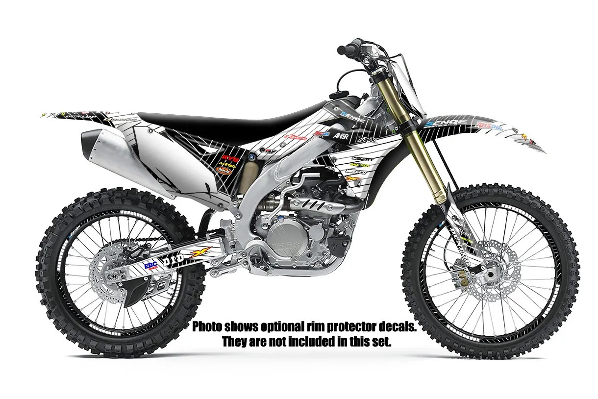 2004 2005 KXF 250 GRAPHICS KIT KAWASAKI KX250F KX F 250F