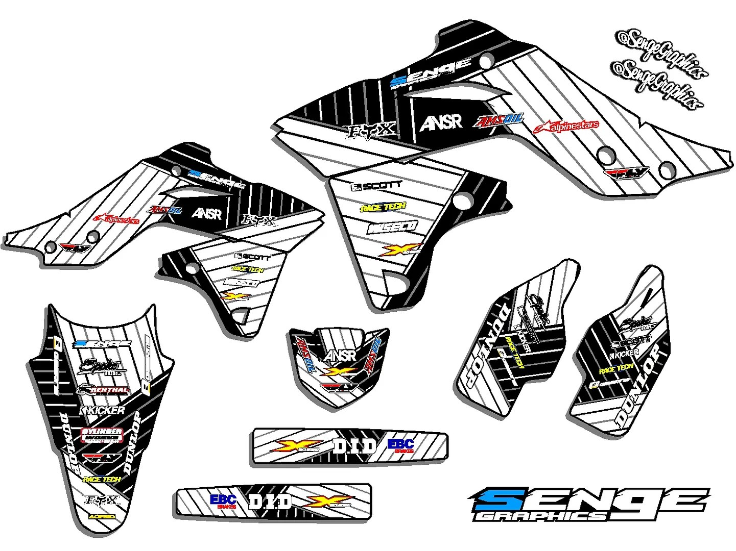1999 2000 2001 2002 KX 125 250 GRAPHICS KIT KAWASAKI KX125