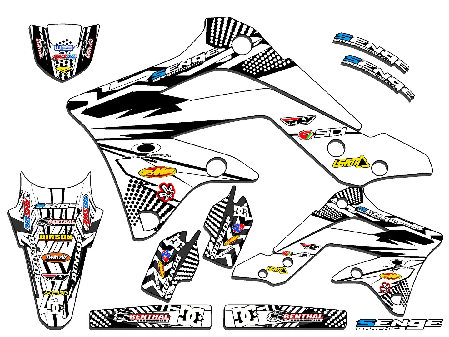 2006 2007 2008 KXF 450 GRAPHICS KIT KAWASAKI KX450F KX F
