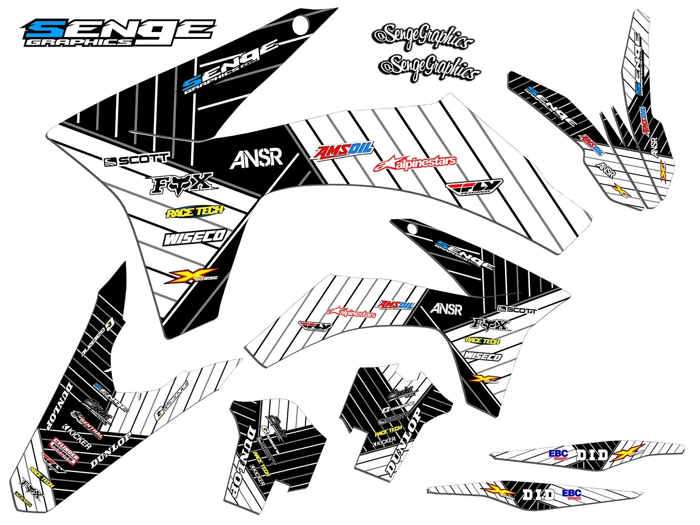FITS KTM 2002 SX 125 250 380 400 520 GRAPHICS KIT DECO