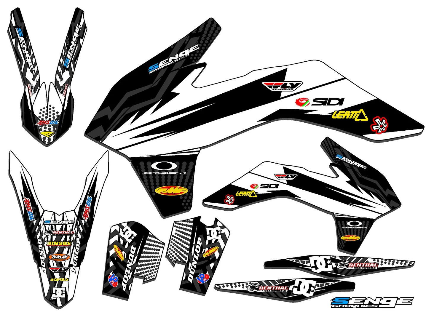 FITS KTM 2014 EXC 250 350 450 500 GRAPHICS KIT DECALS DECO