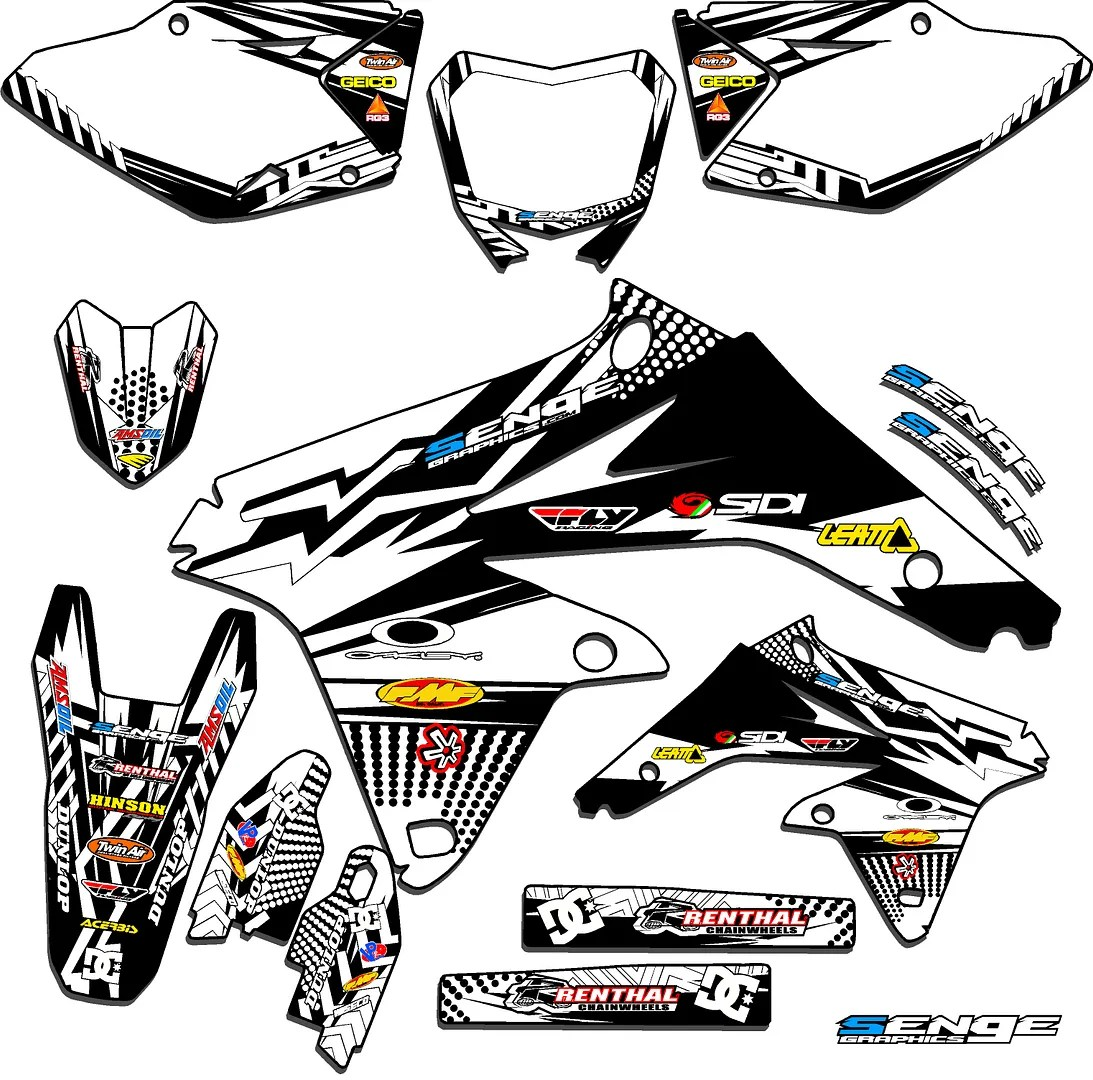 2000 2001 2002 2003 2004 DRZ400 GRAPHICS KIT DRZ 400