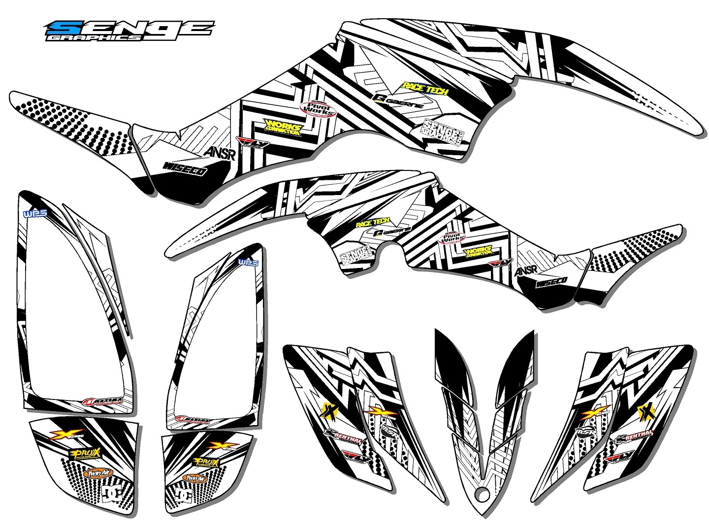 RAPTOR 350 RAPTOR350 YAMAHA GRAPHICS KIT DECO STICKERS ATV