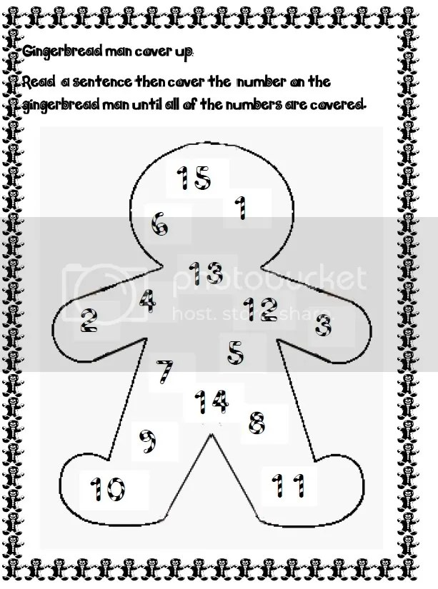 Gingerbread spelling, punctuation and sight word freebie