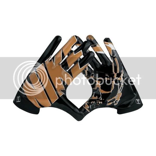 Nike Superbad 4 Gf0494-010 Black Gold Skull Magnigrip Palm