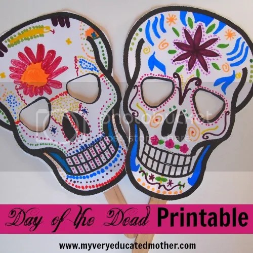 #freeprintable #DayoftheDeadMask #kidscraft