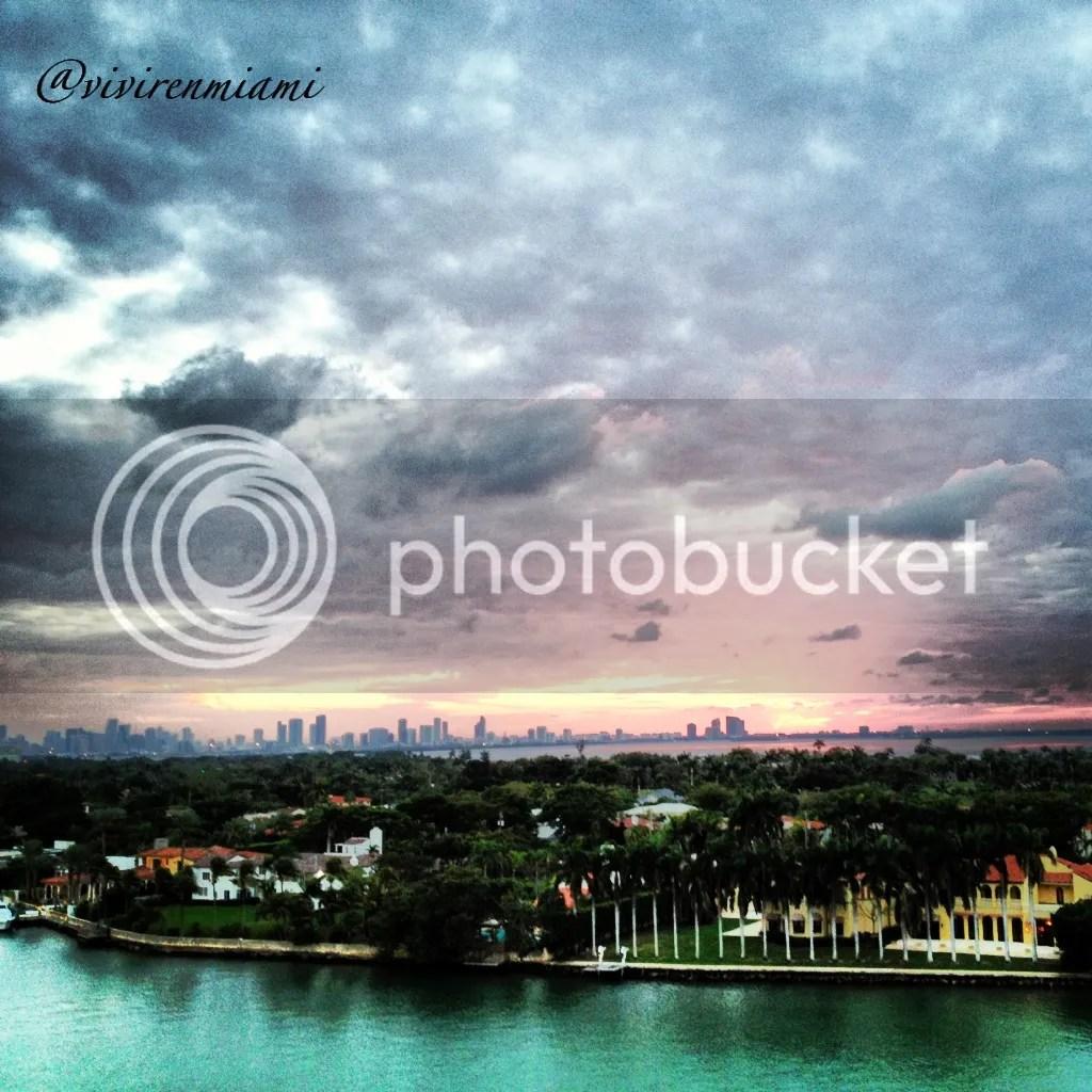 Rayo verde desde mi terraza (Miami)