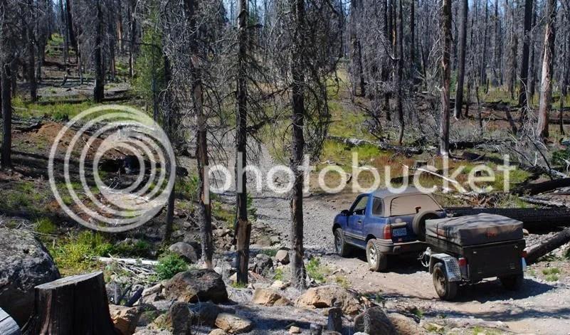 Jeep Trailer Dinoot M416 on Santiam Wagon Trail Oregon Mt Washington wilderness