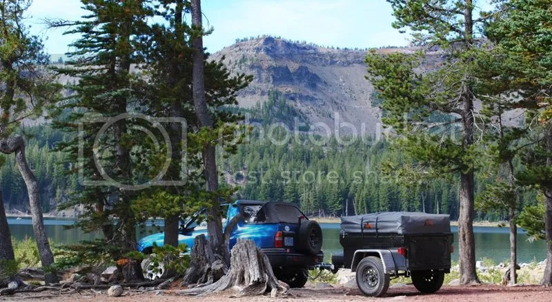 Jeep Trailer Three Creeks Lake Oregon Adventure with Compact Camping Trailers and Dinoot Trailers